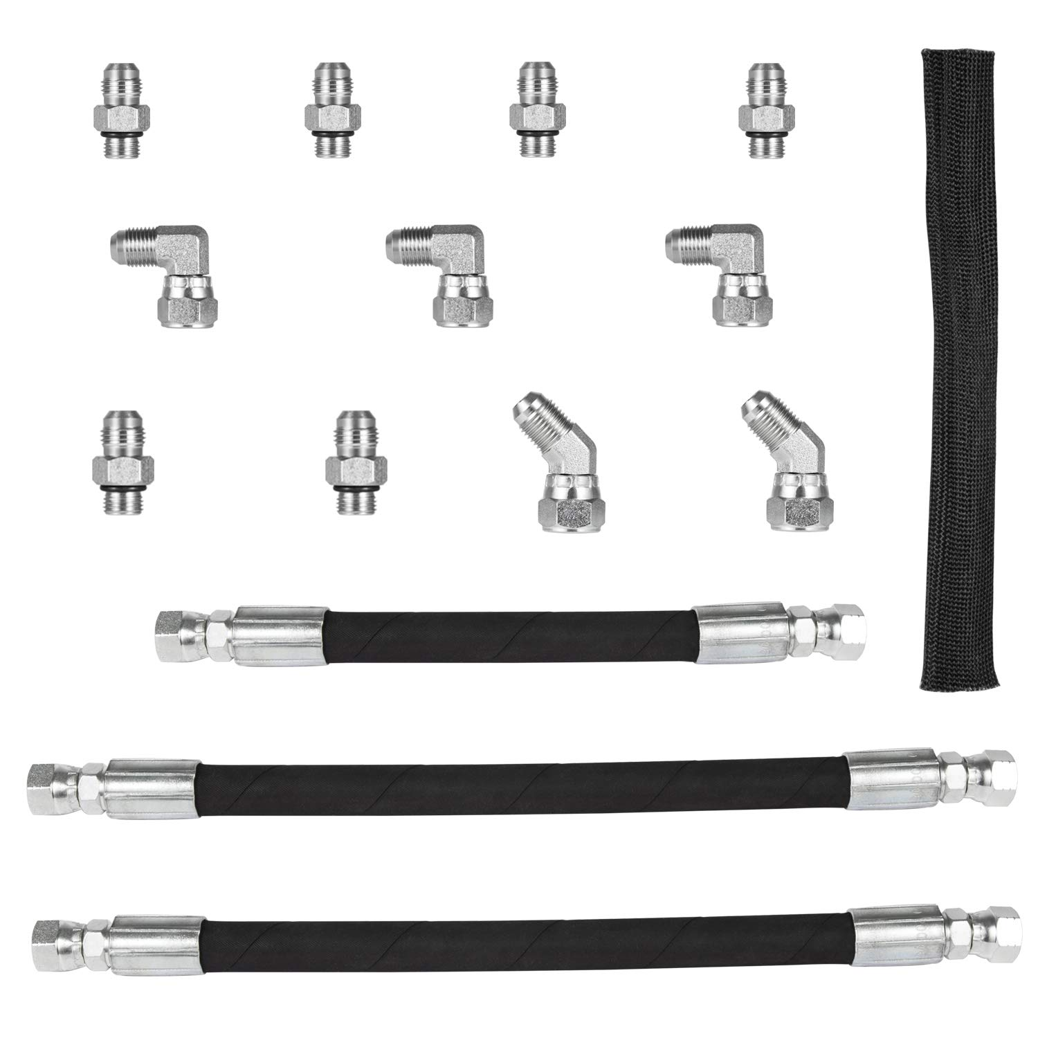 High Pressure Oil Pump HPOP Hoses Lines /& Crossover Kit for 1999 2000 2001 2002 2003 Ford 7.3L Powerstroke