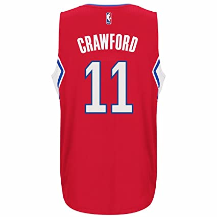 5fcf2fdbe4d adidas Jamal Crawford Los Angeles Clippers NBA Red Official Climacool Away  Road Swingman Jersey For Men