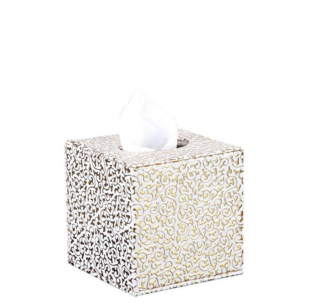Rectangular Leather Facial Tissue Box Cover Home Office Decor , 001