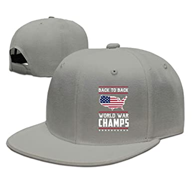 c794cf07369 Back-to-Back World War Champs Plain Adjustable Snapback Hats Men s Women s  Baseball Caps at Amazon Men s Clothing store