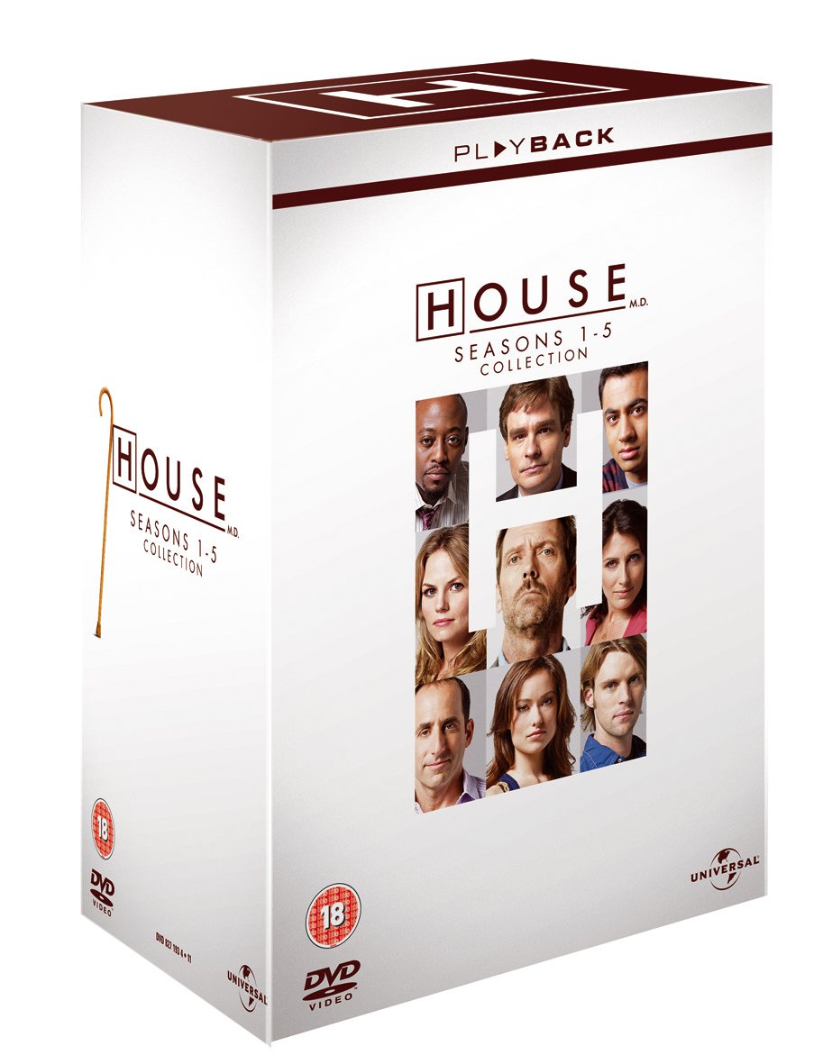 House - Season 1-5 [DVD]: Amazon.co.uk: Hugh Laurie: DVD & Blu-ray