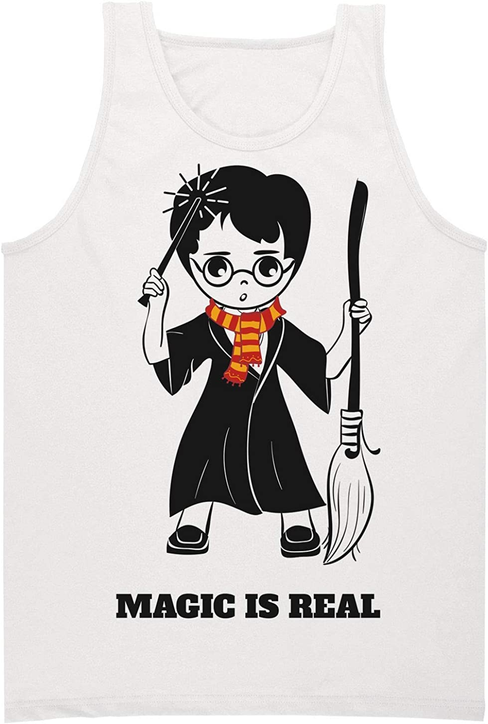 Magic Is Real Little Wizard Boy with Broom Camiseta sin ...