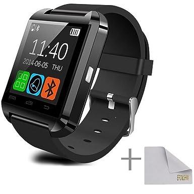 efoshm negro reloj inteligente inalámbrico V8 Bluetooth ...