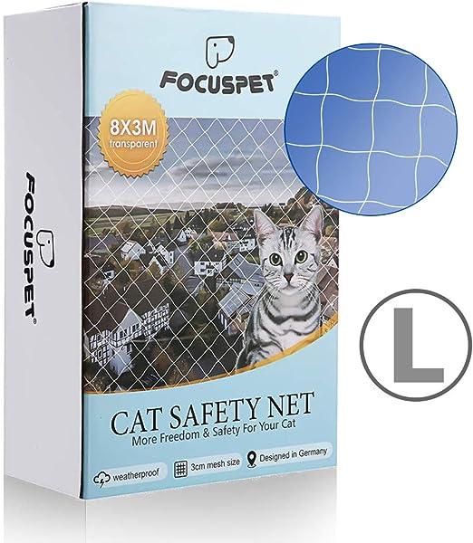 Focuspet Red de Proteccióno para Gatos, 3 X 8M Red de Seguridad ...