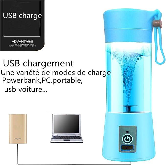 Mini batidora licuadora eléctrica, dutison multifuncional licuadora batidora portátil USB batidora licuadora artículo para Smoothies, zumo de frutas, Juice: Amazon.es: Hogar