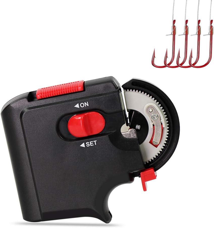 AimdonR Tragbare elektrische automatische Angelhaken Tier Maschine Krawatte schnelle Angelhaken Bindewerkzeug Angeln Angler Zubeh/ör