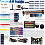 robotic components - iduino Electronic Component Kit for Arduino/Raspberry Pi/Robotics Project Breadboard Jumper Wires Starter Kit Includes LEDs Resistors Arduino Kit Accessories