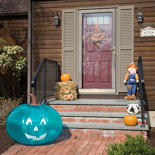 """SCS Direct Inflatable 35"""" Giant Halloween Teal Pumpkin - Official Teal Pumpkin Project Allergy-Friendly Trick or Treat Decor - All Sales Supports F.A.R.E."""
