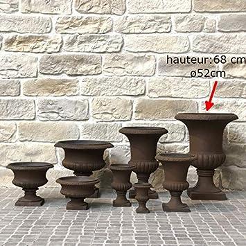 L\'ORIGINALE DECO Vase Pot Vasque Jardinière Médicis de Jardin Marron ...