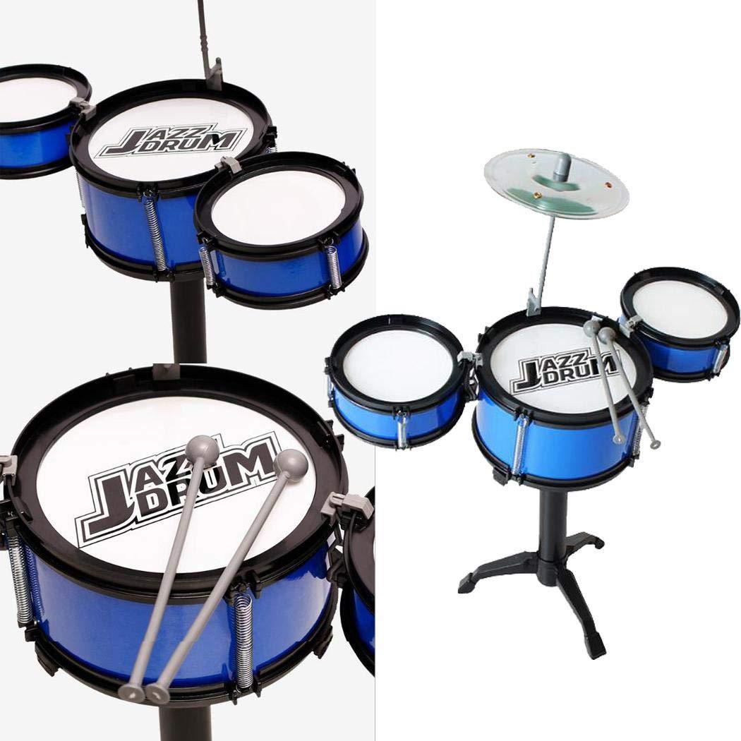 GoodKE 28x9x17cm/ Kids Three Drum Set Children Percussion Musical Instrument Educational Toys Music & Sound