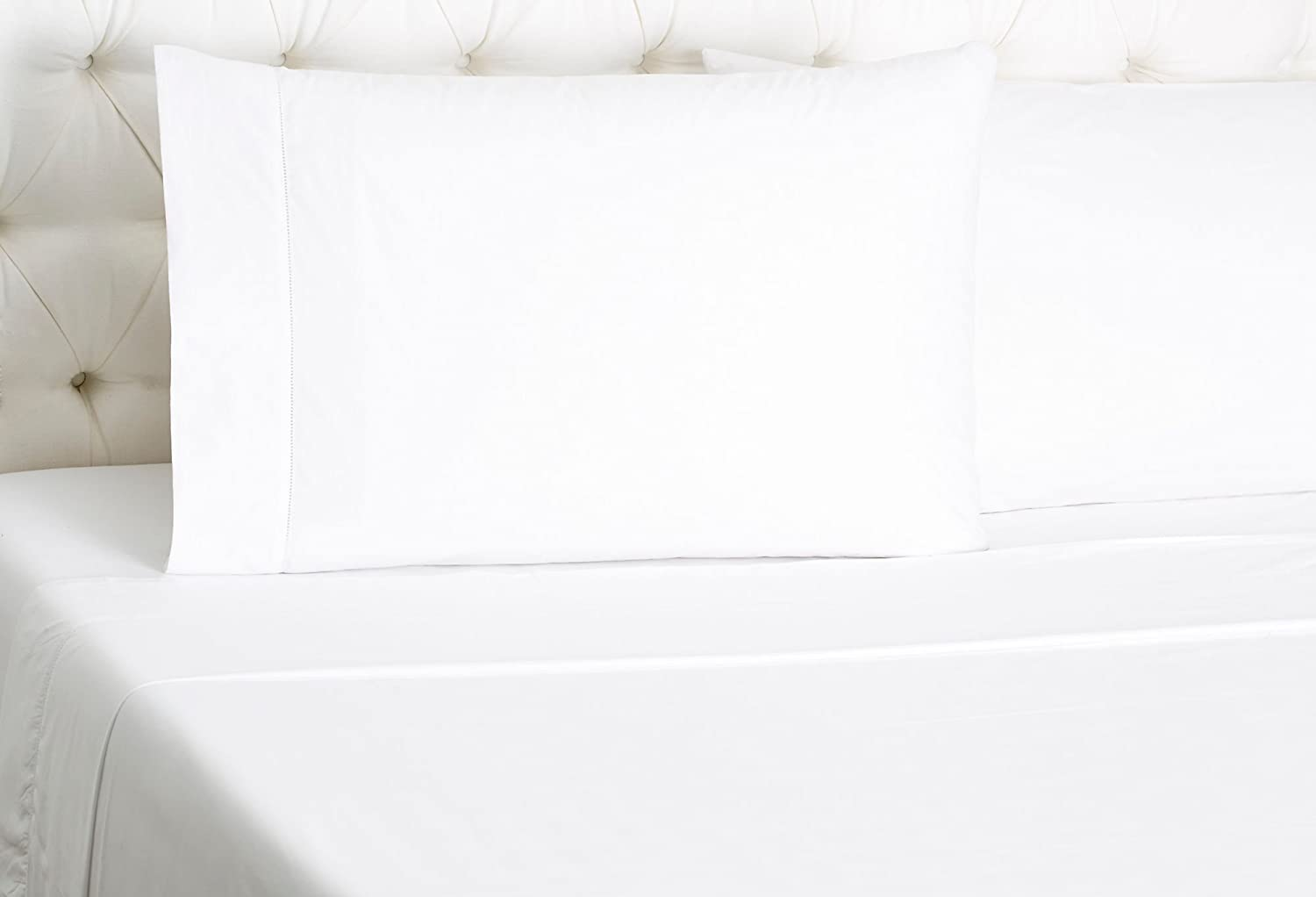 Amazon.com: Sferra Matteo White Twin Sheet Set 3PC ...