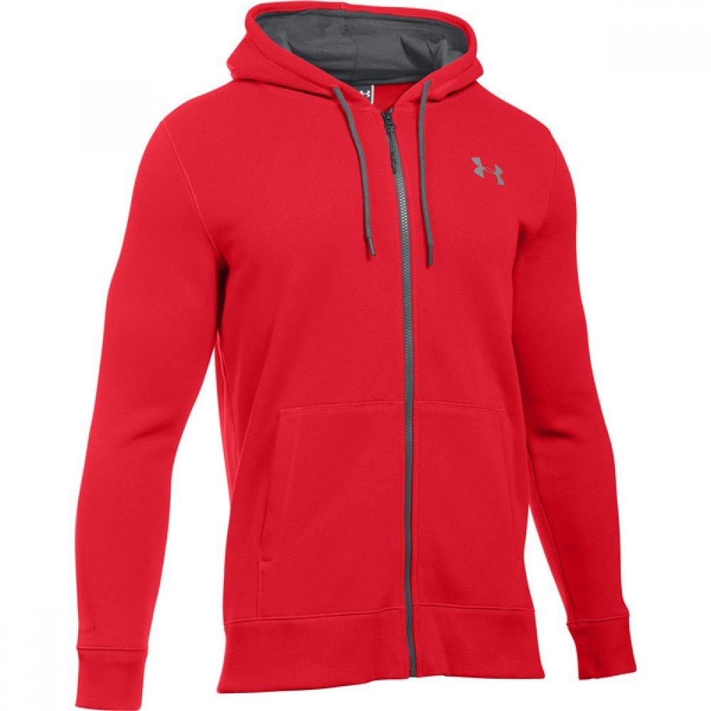 Under Armour CC Storm Rival Full Zip Men Jacket Fitness, konfektionsgröße:XL, color:red