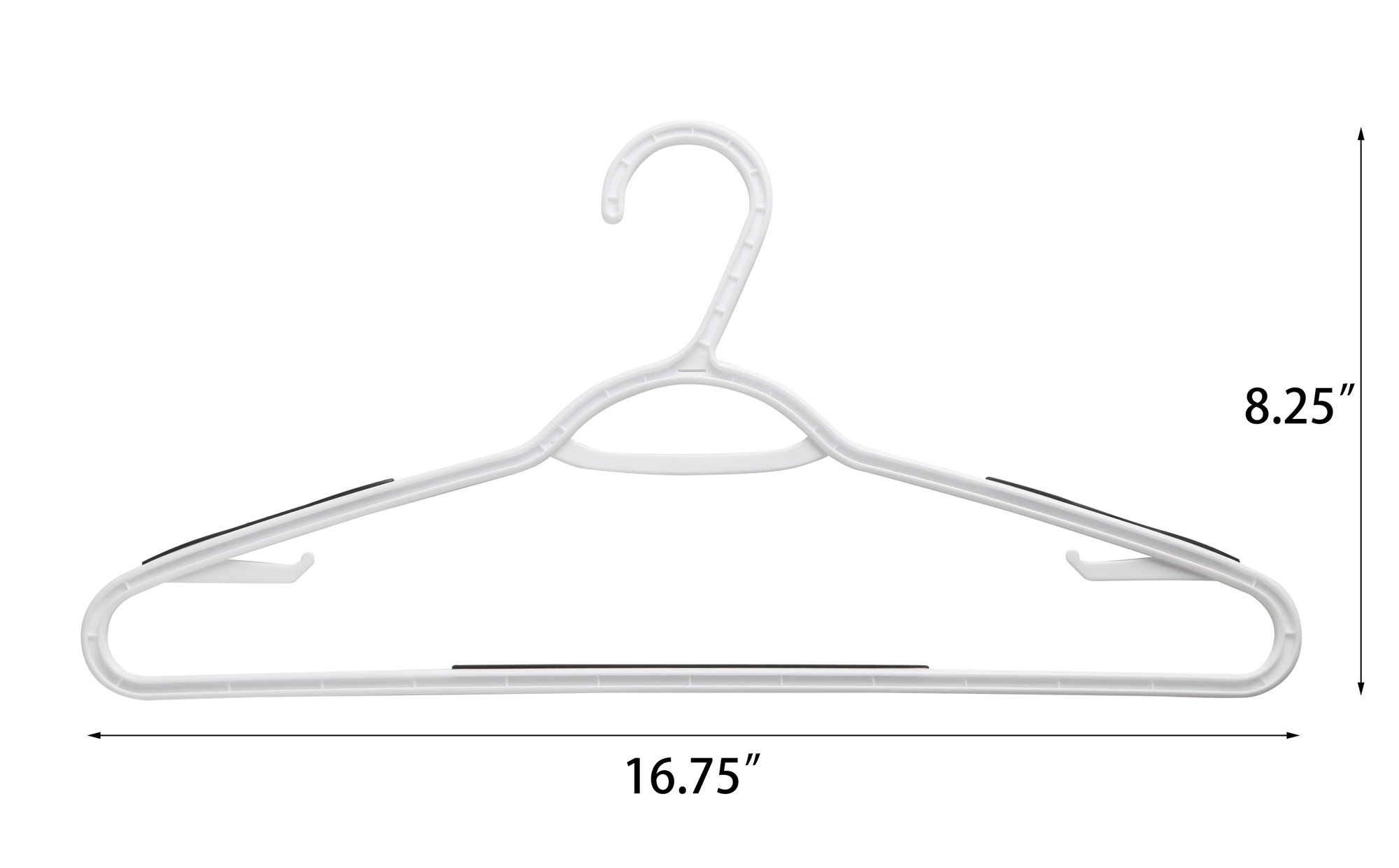 Finnhomy Super Value 50 Pack Plastic Hangers, Durable Clothes Hangers with Non-Slip Pads, Space Saving Easy Slide Organizer for Bedroom Closet Wardrobe, Great for Shirts, Pants, Scarves by Finnhomy (Image #2)