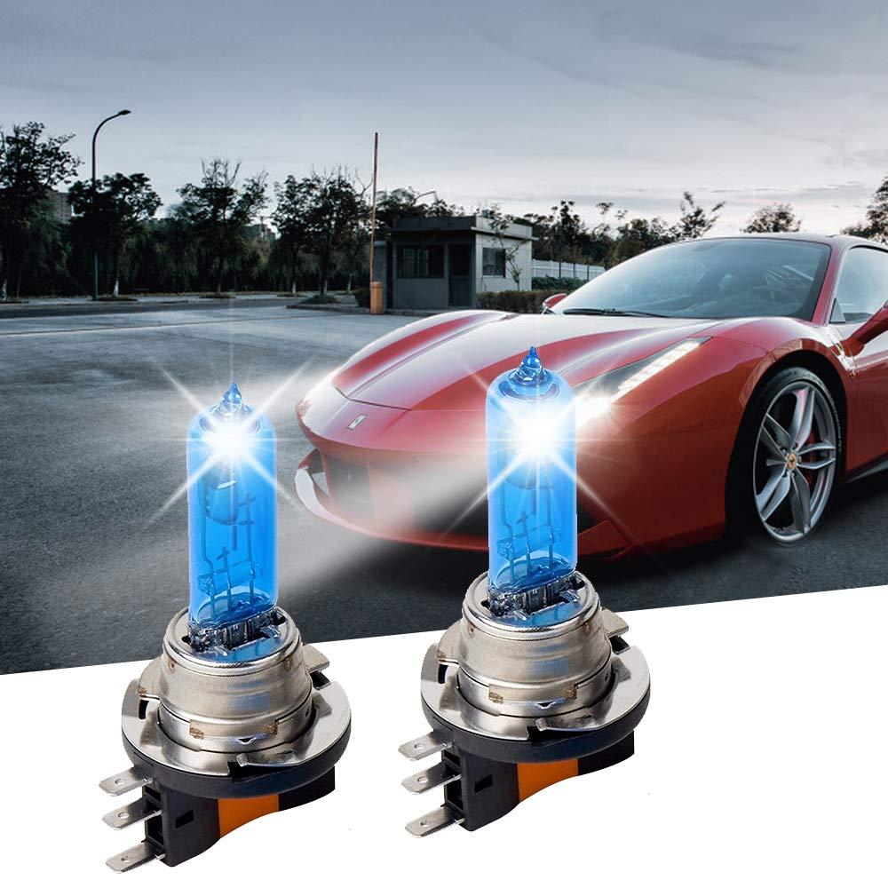 12V 2 St/ück Carrep H15 15//55 W Xenon 7500K Superwei/ße Halogenlampe Scheinwerferlampe