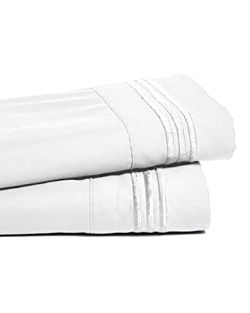 Deep Pocket Bamboo Bed Sheet   Luxury 2200 Embroidered Wrinkle, Fade And  Stain Resistant Sheets