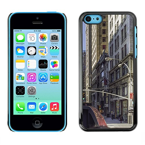 Premio Sottile Slim Cassa Custodia Case Cover Shell // F00005107 New York Manhattan // Apple iPhone 5C