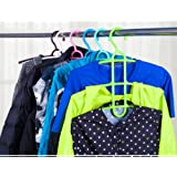 MosQuick® Hanger ,Multipurpose Hanger For Shirts, tops , t-shirts ,Pants, Trousers, Jeans , Ties , Scarves , clothes hanger , hanger for clothes , Space saving Hanger, Cupboard organizer (Multi color -1 pc )