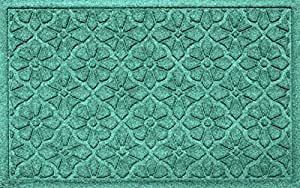 Aqua Shield Medallion Mat, 2 by 3-Feet, Aquamarine