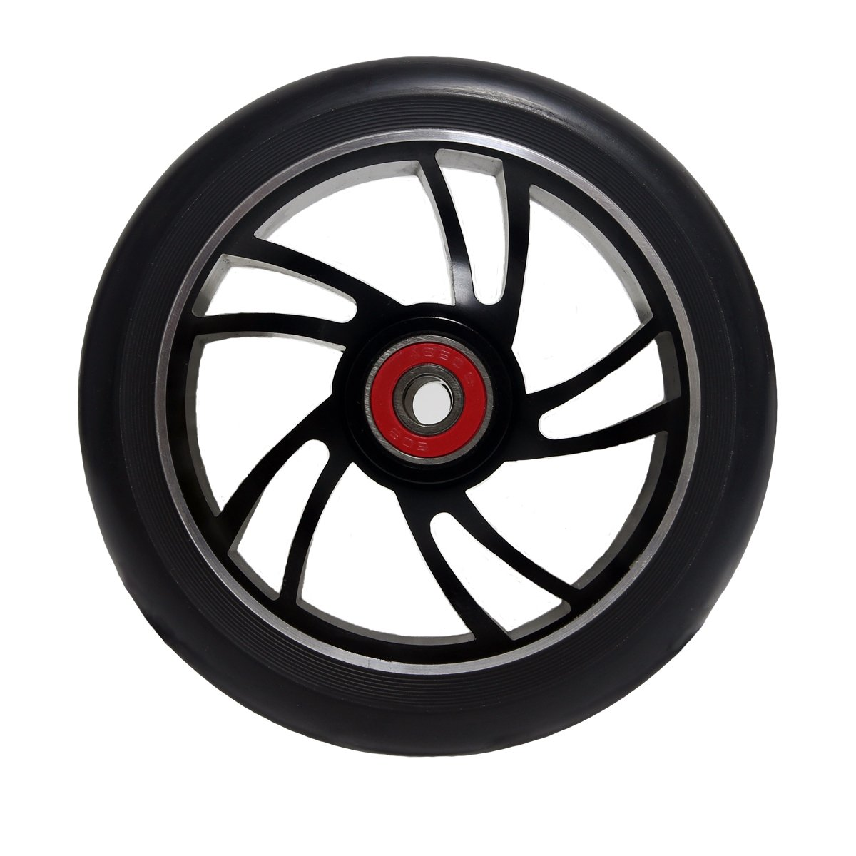 Z-FIRST 2Pcs 120mm Pro Scooter Wheels with ABEC 9 Bearings for MGP/Razor/Lucky Pro Scooters (6 Spoke) (A-Black)