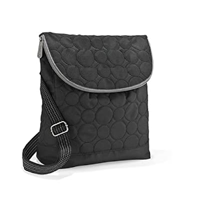 Amazon.com: Thirty One Vary You Backpack Purse Black Quilted Dots ... : black quilted handbag - Adamdwight.com