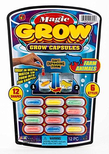 JA-RU Magic Grow Capsules (1 Packs 12 Capsules) Best Growing Animals Dinosaurs Capsules Bath Toys for Kids. and 1 Bouncy Ball. Bulk Supply. 305-p (1 Pack)