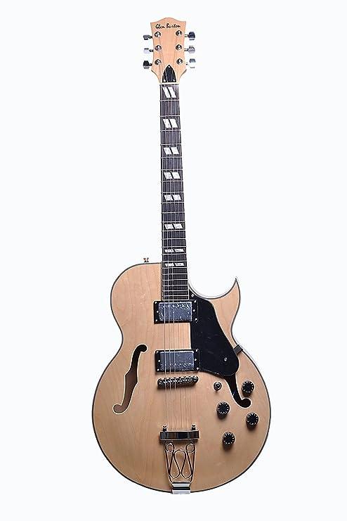 Premium tamaño completo guitarra eléctrica Jazz Cuerpo Hueco W/Tune-O-Matic y