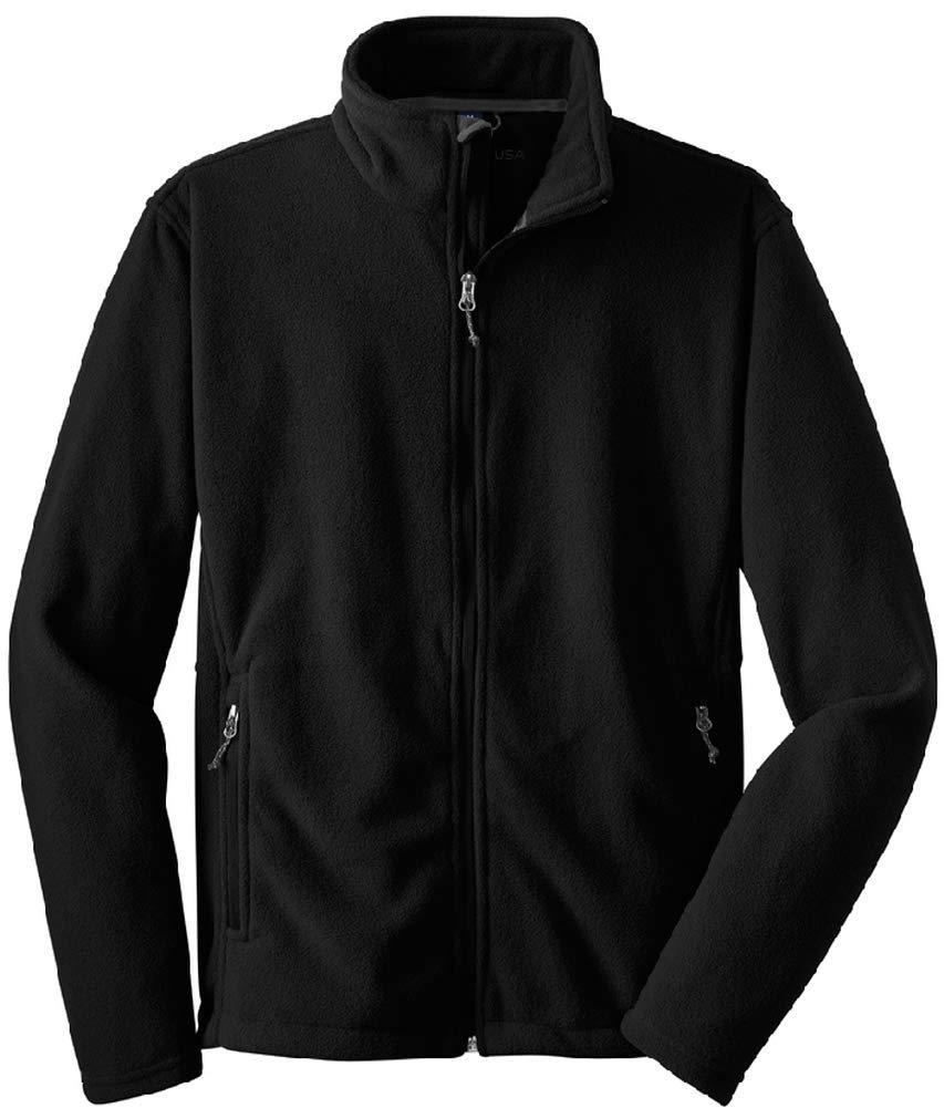 Joe's USA - Youth Soft and Cozy Fleece Jacket-XL-Black