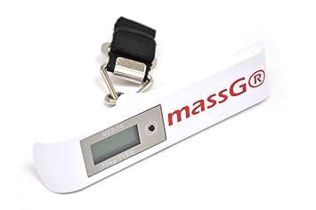 Pesa de equipaje escala báscula para maletas Digital portátil con función de tara de viaje capacidad de peso 50 kg/110 Lb plata: Amazon.es: Electrónica
