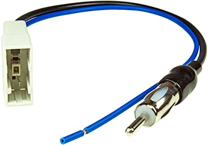 tomzz Audio 1538-000 Adaptador de antena GT13 DIN compatible con Nissan Navara, Pathfinder, Tiida, Qashqai, Juke, Honda CR-V, Civic Jazz