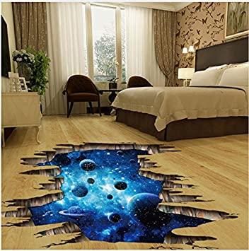 Mddjj 3d Kosmischen Raum Galaxy Bodenaufkleber Kinder Wandaufkleber
