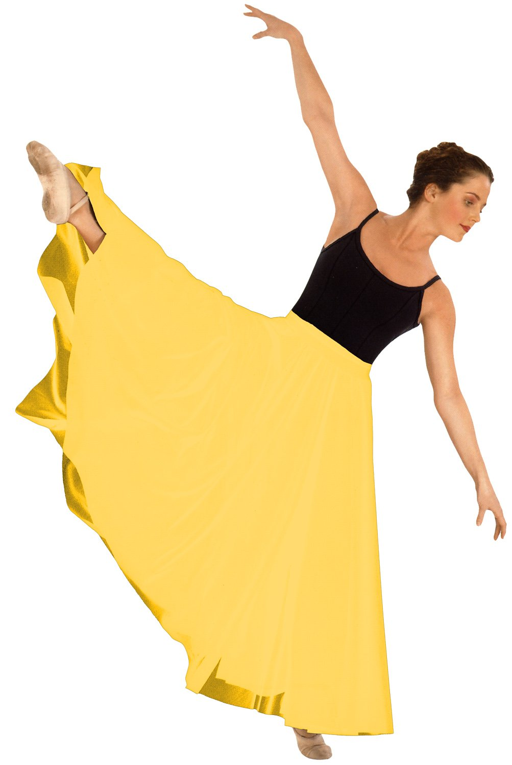 Eurotard 13674 Adult Triple Panel Lyrical Skirt,Yellow,One Size Fits All by Eurotard