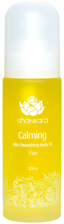 Shankara Calming Body Oil - Relaxing & Nourishing Massage Oil - Ayurvedic, Herbal Daily Moisturizer - pH Balanced, Rich in Essential Oils, Vitamins & Antioxidants - Suits All Skin Types - 30 ml