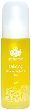 Shankara Calming Body Oil – Relaxing Nourishing Massage Oil – Ayurvedic, Herbal Daily Moisturizer – pH Balanced, Rich in Essential Oils, Vitamins Antioxidants – Suits All Skin Types – 30 ml
