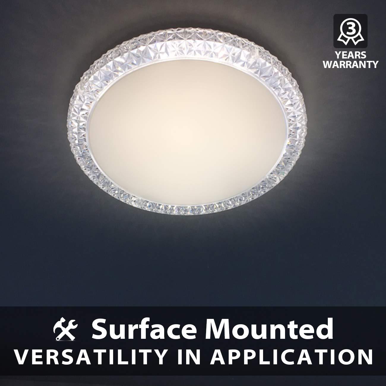 24W LED Deckenlampe Aufbau 4000K Neutralweiß, 2040 Lumen, Rund ø40 Cm,  Deckenleuchte Für Wohnzimmer Schlafzimmer Küche ...