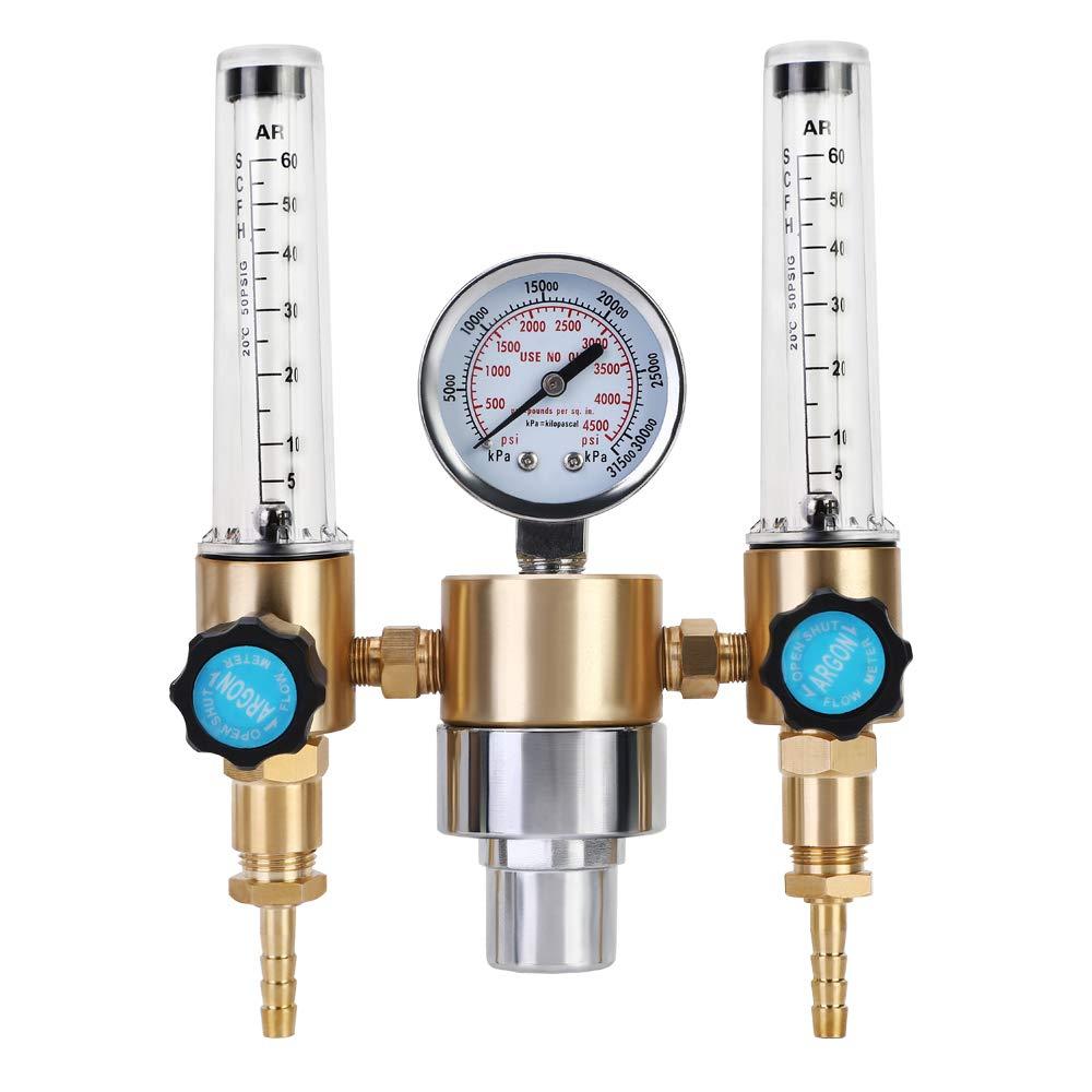 BETOOLL Argon/CO2 MIG TIG Flow meter Gas Regulator Gauge 0-60 SCFH 0-4500 Psi CGA580 Inlet Connection by BETOOLL