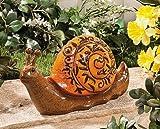 Snail Handpainted Glazed Garden Statue Yard Decor