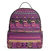 Amazon.com   Cooper girl Vintage Rose Skull Travel Backpack Camping ... 6b7ee3daa7