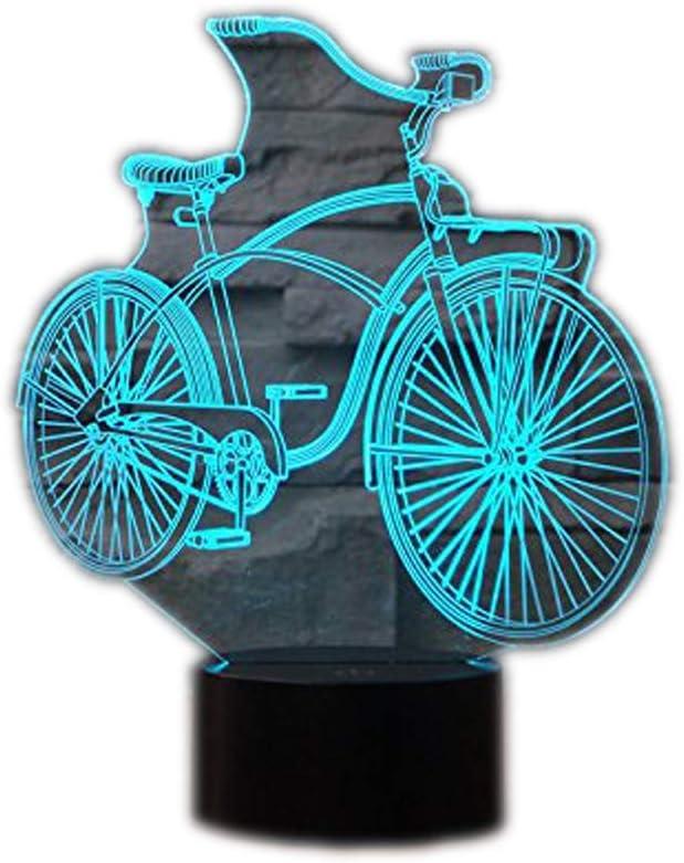 Lámpara 3D Lámpara de noche LED Bicicleta Decoración Escritorio de ...