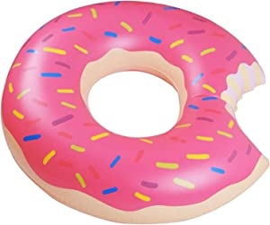 Fastwolf Donut Pool Float,Doughnut Float Pink for Summer,Funny Inflatable Vinyl Summer Pool or Beach Toy (90cm/35.5inch)