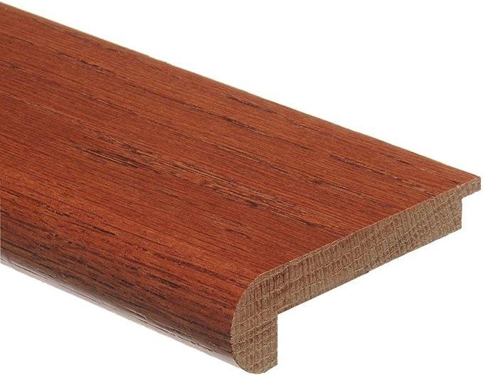 Oak Gunstock 3 4 In Thick X 2 3 4 In Wide X 94 In Length Wood Stair Nose Molding Zamma
