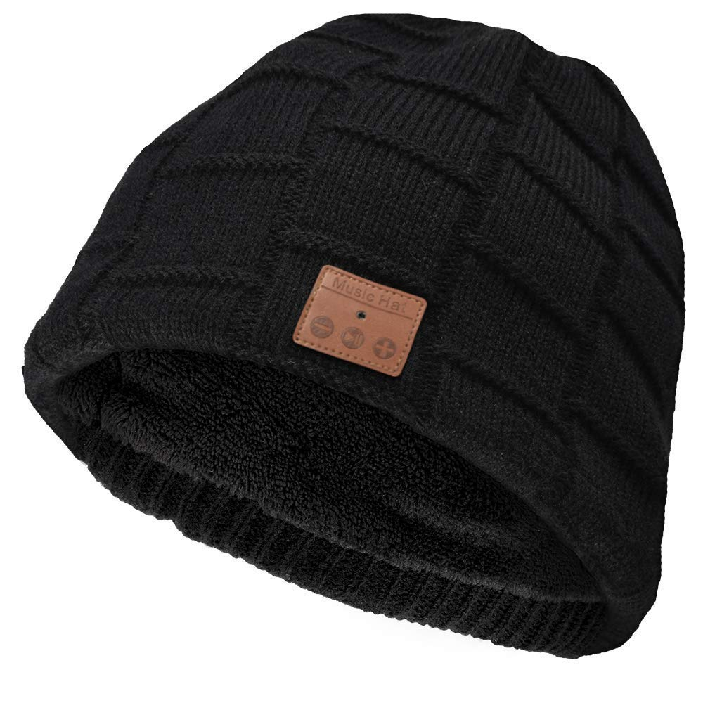 Auriculares Bluetooth Beanie Inalambrico Bluetooth Hat Double Knitted Music Hat con Microfono Incorporadorofono Fit para