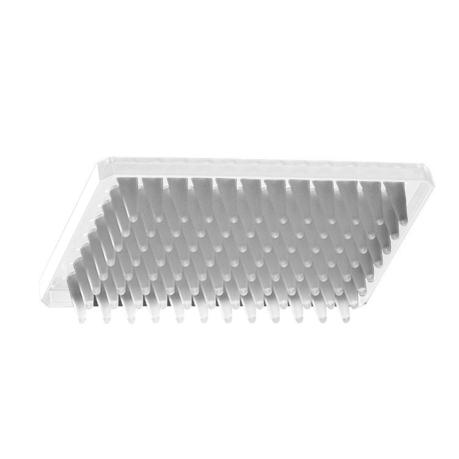 Axygen PCR-96M2-HS-C Half Skirt 96-Well x 300 microliter Amplification PCR Microplate With Single Notch, Clear PP, RNase/DNase-Free, Non-Sterile (1 Case: 10 Plates/Unit; 5 Units/Case)