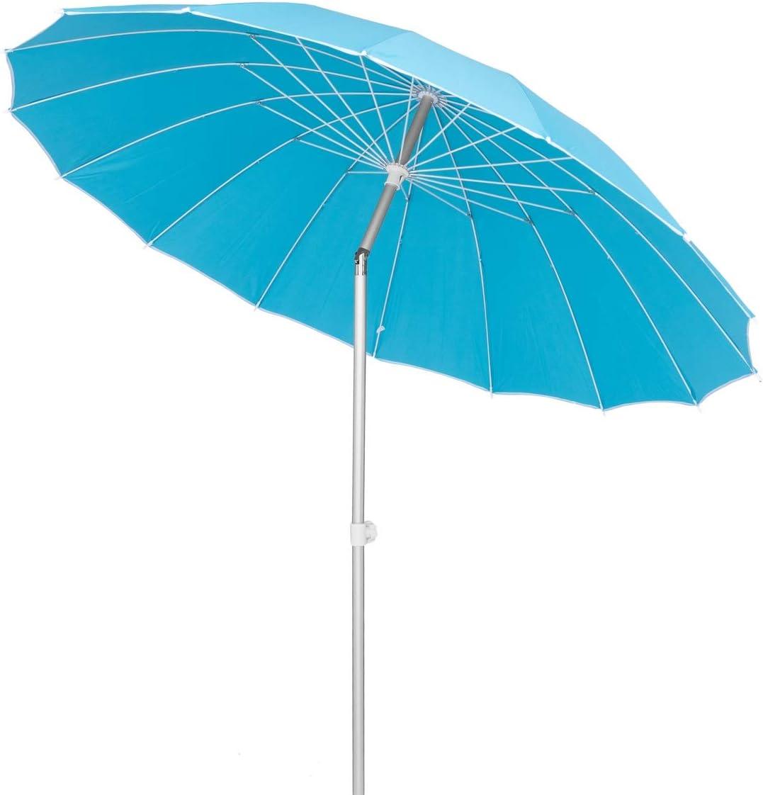 Lola Home Parasol sombrilla con Varillas Flexibles de Fibra de Carbono y Aluminio (Azul)
