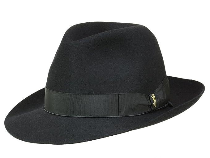 Borsalino Art. 114336 - Sombrero Fedora para hombre - negro  Amazon.es   Ropa y accesorios e663a09e8fe