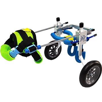 Silla de ruedas para perros, Silla de ruedas ajustable para perros de acero inoxidable,