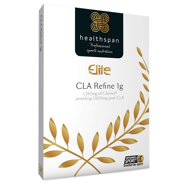CLA Refine 1g | Healthspan Elite | ALL BLACKS OFFICIAL PARTNER | Informed Sport Accredited | 1,282mg Clarinol Provides 1,000mg CLA