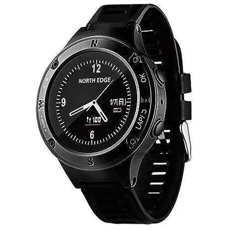 Lixada Hombres GPS Corriendo Reloj Digital Sport Relojes 50m Resistente Al Agua