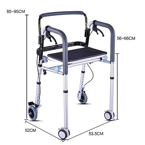 Amazon.com: Andador plegable de 4 ruedas con asiento y ...