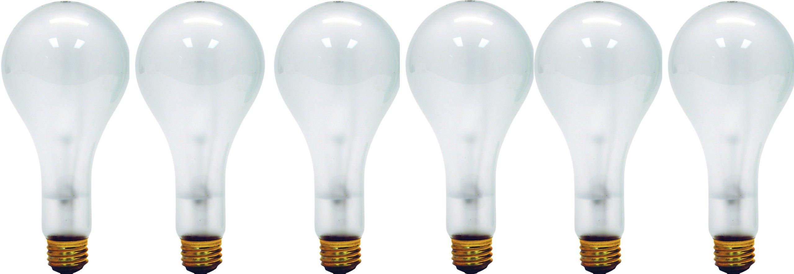 GE Lighting 41459-6 Soft White 3-Way Mogul Base Bulb, 100/200/300-Watt 6-Pack