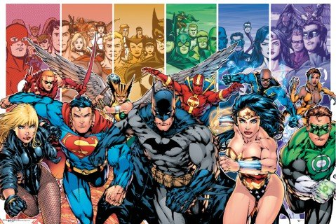 (DC Comics Justice League Characters Poster 36 x 24in)